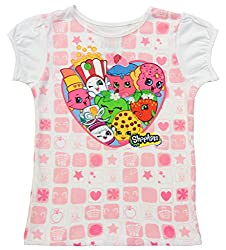 Shopkins Love to Shop White T-Shirt (Toddler 6X)