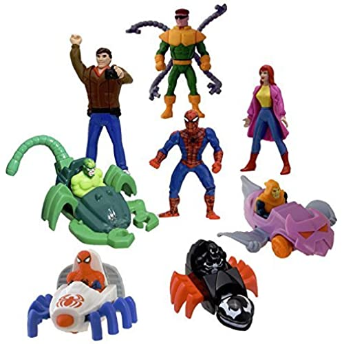 Mcdonald's 1995 Spiderman Happy Meal Set - 8 Different Figures [병행수입품]