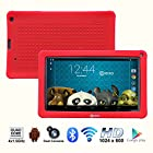 Contixo Kids LA903 9 Quad Core Android 4.4 Kitkat Multi-Touch Screen Tablet PC, HD Display 1024x600, 1GB RAM, 8GB Nand Flash, Dual Camera, WiFi, Bluetooth, Kids Apps Pre-loaded, Google Play Pre-installed, 3D Game Supported (Red)