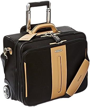 "Samsonite Black Label Hommage III 14"" Wheeled Boarding Bag (Black/Tan)"