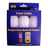 UCO - 9-Hour Candles, 3 Pack, Regular, White
