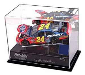 Jeff Gordon 1 24th Die Cast Display Case with Platform and Race Used Tire by Mounted Memories