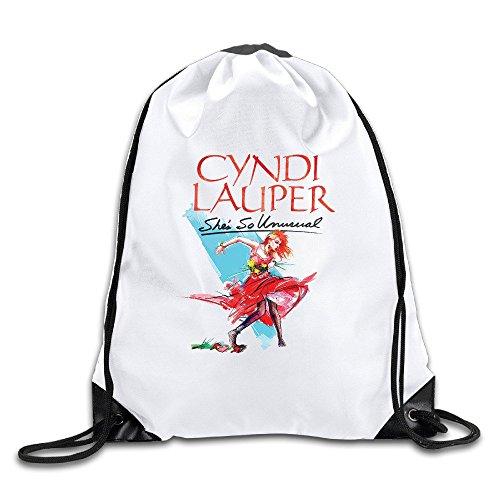 Cyndi Lauper White Drawstring Backpack Sport Bag For Men & Women