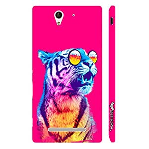 Enthopia Designer Hardshell Case 1980's Tiger Back Cover for Sony Xperia C3