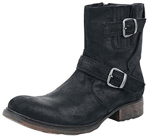 Black Premium by EMP Suede Boots Anfibi/Stivali nero EU47