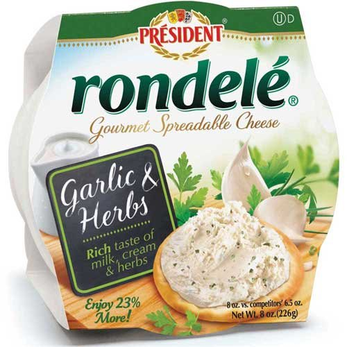 rondele-gourmet-garlic-and-herb-cheese-spread-8-ounce-12-per-case