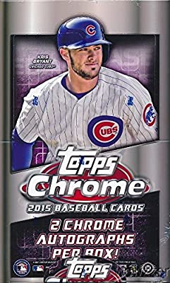 2015 Topps Chrome MLB Baseball Factory Sealed HOBBY Box with 24 Packs and TWO(2) AUTOGRAPH Cards ! Look for Rookies,Refractors and Autographs of Kris Bryant, Joc Pederson & Many More! HOT!