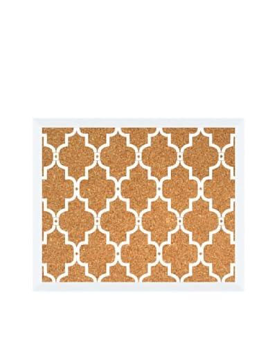 White Pattern Corkboard