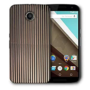 Snoogg Black Strips Printed Protective Phone Back Case Cover For LG Google Nexus 6