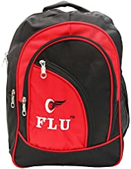 IKL Canvas 35 Liters Black And Red School Backpack