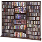 "CD Rack - 1500 Veneer (Walnut) (63 3/4""H x 65 5/6""W x 9 1/2""D)"