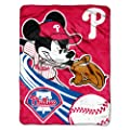 MLB Philadelphia Phillies 46x60-Inch Micro Raschel Throw