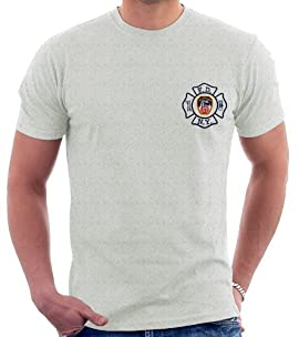 MALTESE CROSS W/ FDNY ON BACK (GREY)