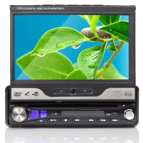 Auto D1302Z 7 Zoll 1 DIN Autoradio mit DVD Player,