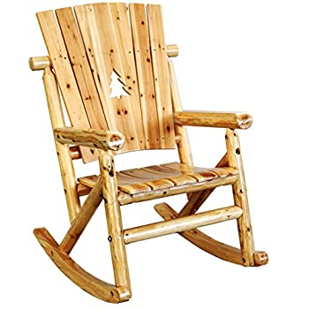 Leigh Country Aspen Single Rocker with Pine Tree Cutout