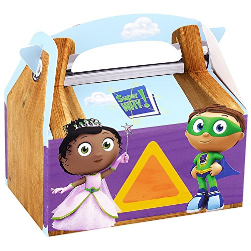 Super Why! Empty Favor Boxes (4) Party Supplies