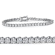 4.00CT Diamond Tennis Bracelet 14K Wh…
