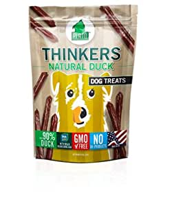 Plato Treats Thinkers Duck Dog Snack Bag, 10-Ounce