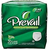 Prevail Super Absorbency Underwear, 2XL, 12 Count (Pack of 4)