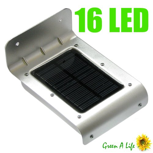 power 16 led outdoor solar light with motion detector motion activated. Black Bedroom Furniture Sets. Home Design Ideas