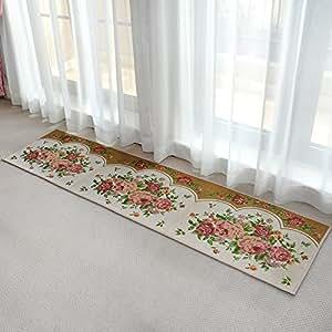 ustide cheap kitchen rug floral design area