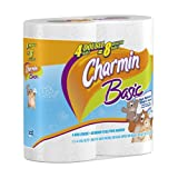 Charmin Basic Toilet Paper 4 Double Rolls,   (Pack of 12) ~ Charmin