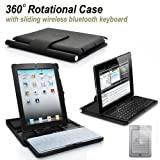 """GUMP drahtlose Bluetooth-Tastatur + 360 Grad drehbaren Standfu� Fall f�r iPad2 und ipad3 """"Das neue iPad"""" (Schwarz)von """"GUMP"""""""