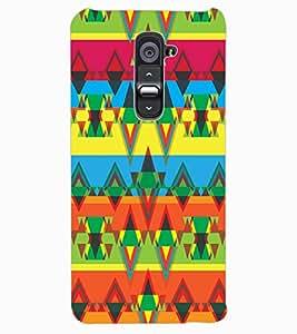 ColourCraft Tribal Pattern Design Back Case Cover for LG G2