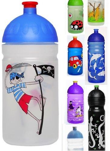 ISYbeTrinkflasche-500ml-Pirat-transparent-schadstofffrei-splmaschinengeeignet-auslaufsicher