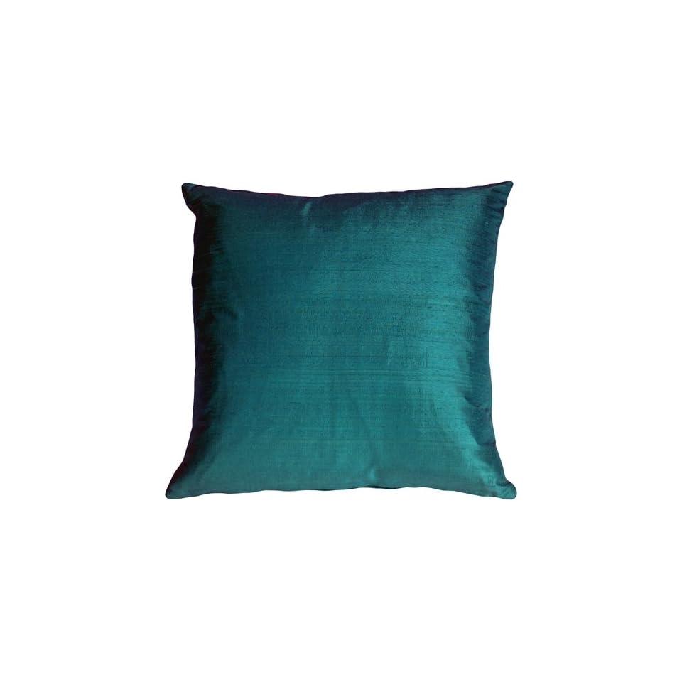 Teal Blue Decorative Pillows : Pillow Decor Dupioni Silk Teal Blue 22 x 22 Decorative Throw