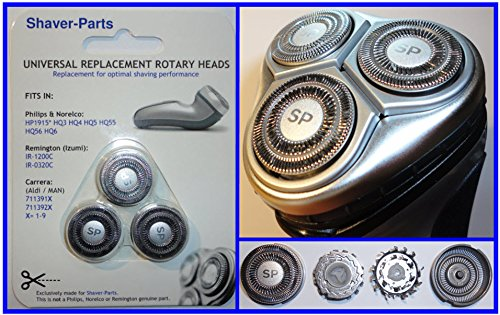 Norelco Shaving Heads: HP1915, HQ3, HQ4, HQ5, HQ55, HQ56 and HQ6. Alternative (Fits) for Norelco (Philips) Shavers. (Norelco Replacement Blades Hq55+ compare prices)