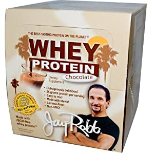Jay Robb Whey Protein Powder Chocolate -- 12 Packets