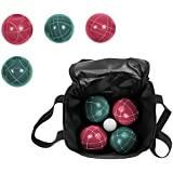 Trademark Innovations Top Quality Resin Balls Bocce Ball Premium Set Includes 9 Balls with Carry Case