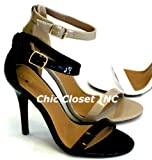 Cha Cha-S Open Toe High Heel Stilettos