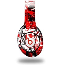Red Graffiti Decal Style Skin (fits ORIGINAL Beats Studio Headphones - HEADPHONES NOT INCLUDED)