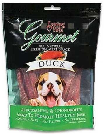 Loving Pets DLV5502 All Natural Dog Gourmet Jerky Premium Snack Strip, Duck Meat, 4-Ounce (Loving Pets Meat Sticks compare prices)