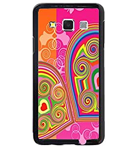 Printvisa Double Hearts Pattern Back Case Cover for Samsung Galaxy A5::Samsung Galaxy A5 A500F
