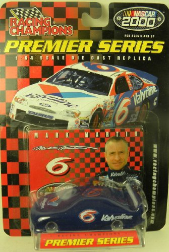 Mark Martin 2000 NASCAR Racing Champions Premier Series #6 Valvoline Ford Taurus Preview 1/64 Diecast . . . Includes Stand and Collectors Card