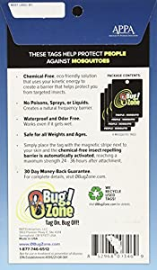 0Bug!Zone 4 Piece Mosquito Barrier Tags for People