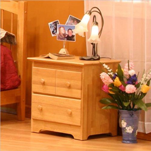 Atlantic Furniture Windsor 2 Drawer Nightstand - Antique Walnut