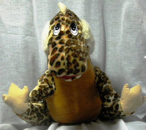 "Spotted Brown Dinosaur Plush 14"" - 1"