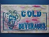 z211 Cold Beverages Drink OPEN Cafe NR Banner Shop Sign