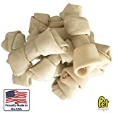 Pet Magasin Rawhide Bone Treats for Dogs, 6-7 Inch Natural Beef Rawhide Chews, 10-Count Bag [Made in USA]