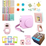 9 Piece Gift set for Fujifilm Camera Accessories Bundle, Instax Mini 8 Instant Film Accessories Bundle Kit Includes, Pink Case/2 Albums, Selfie Lens, Colored Filters, Wall Hang Frames, Stickers & More