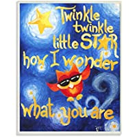 The Kids Room By Stupell Twinkle Twinkle Little Star Red Owl At Night Rectangle Wall Plaque