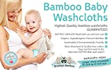 "Brooklyn Bamboo Baby Washcloth Wipes 6 Pk Organic, SOFT, Large 10""x10"" Use With Favorite Bath Products & Towels Most Absorbent, Durable Washcloths On The Planet! Hypoallergenic - Shower Gift"