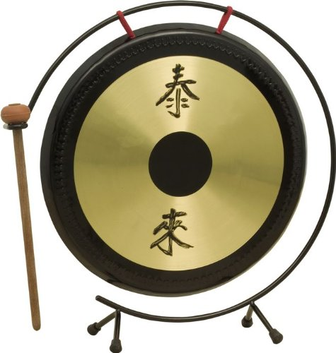 Rhythm Band Oriental Table Gongs, 12 Inch Gong Rb1072