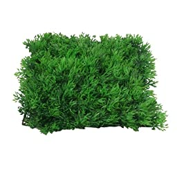 Jardin Fish Tank Square Artificial Grass Lawn, 10-Inch by 10-Inch, Green