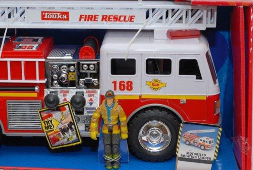 Tonka Toy Trucks >> Tonka Mighty Motorized Fire Engine with Figure - Tonka Toys