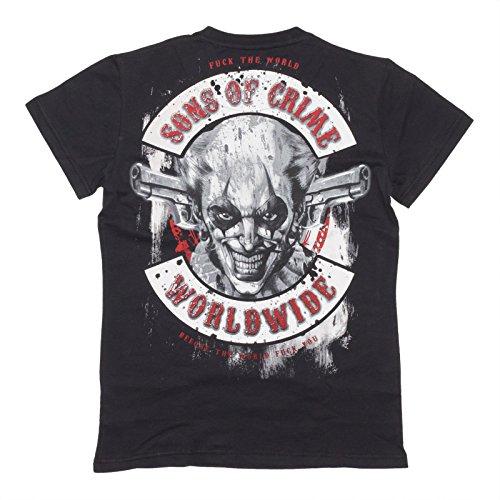 Mafia & Crime T-Shirt Criminal Worldwide, Farbe:black;Größe:M